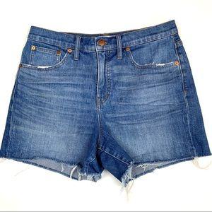 Madewell high rise denim cut off shorts stretch